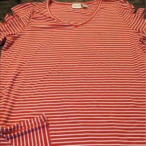 Tops - Chico's Red & White Stripe Summer Tee